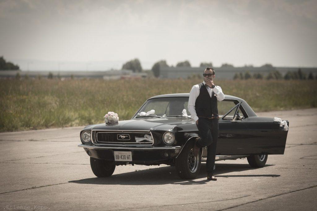 Mustang vintage marié